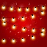 Christmas Lights - festive carnival garland with light bulbs