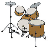 Golden percussion set