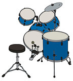 Blue percussion set