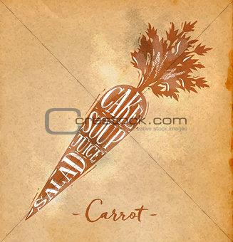 Carrot cutting scheme craft