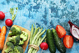 still life healthy eating organic vegetables