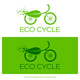 Eco cycle logo. Vector illustration.