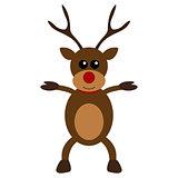 Christmas deer character flat design