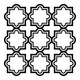 Arabic seamless pattern set - Islamic design, black and white geometric art