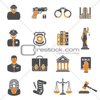 Crime and Punishment two color Icons