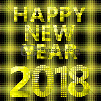 2018 Happy new year card