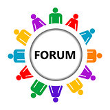Forum icon with group of stylized people