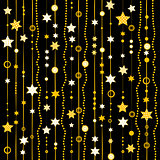 Garland with stars background