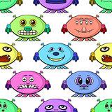 Cartoon Monsters Seamless
