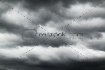 Black clouds in the sky