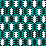 Christmas fir tree abstract seamless pattern