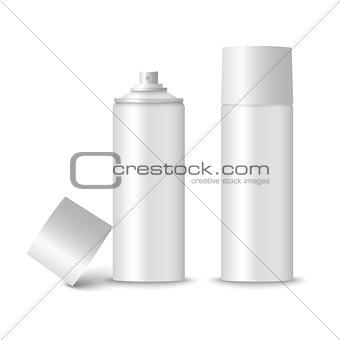 Blank white spray bottle template