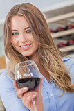 Woman Girl Drinking Red Wine