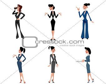 Six businesswomen posing