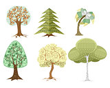 Six trees set