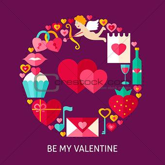 Be My Valentine Flat Concept
