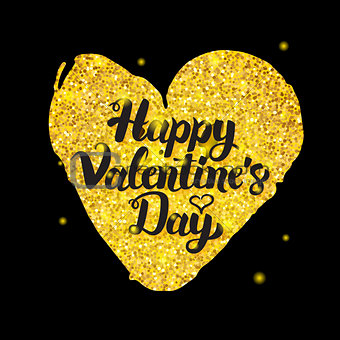 Black Gold Valentine Day