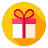 Gift Box Circle Icon