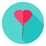 Heart Balloon Circle Icon
