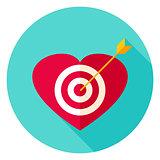 Heart Target Circle Icon