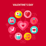 Concept Happy Valentine Day