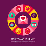 Happy Valentine Day Concept