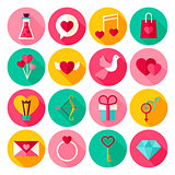 Happy Valentine Day Flat Icons