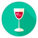 Love Drink Circle Icon