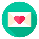 Love Envelope Circle Icon