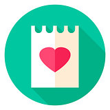 Love Letter Circle Icon