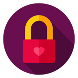 Love Lock Circle Icon