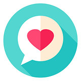 Love Message Circle Icon