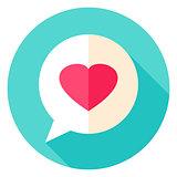Love Message Circle Icon
