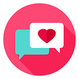 Love Messages Circle Icon