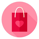 Love Package Circle Icon