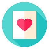 Love Paper Circle Icon