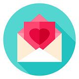 Love Post Circle Icon
