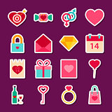 Love Valentine Day Stickers