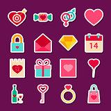 Love Valentine Day Stickers