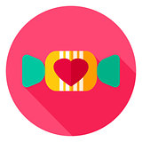 Lovely Candy Circle Icon