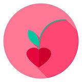 Lovely Cherry Circle Icon