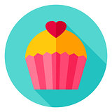 Lovely Cupcake Circle Icon