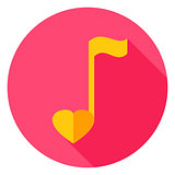 Musical Note Circle Icon