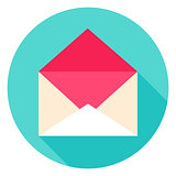 Open Envelope Circle Icon