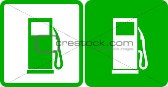 green transport gas station icons