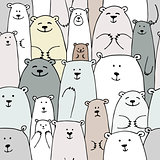 Bears family, seamless pattern for your design