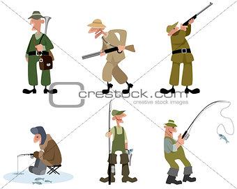 Fishermen and hunters set