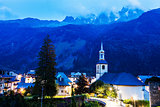 St Michel Church in Chamonix
