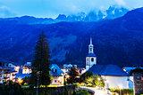 St Michel Church in Chamonix