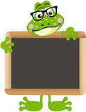 Frog teacher with school board